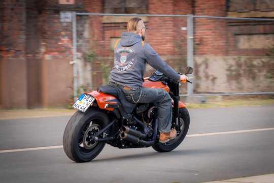 Thunderbike Clothing Thunderbike Zip Hoodie Flying Custom grey/orange L - 19-40-1263/000L