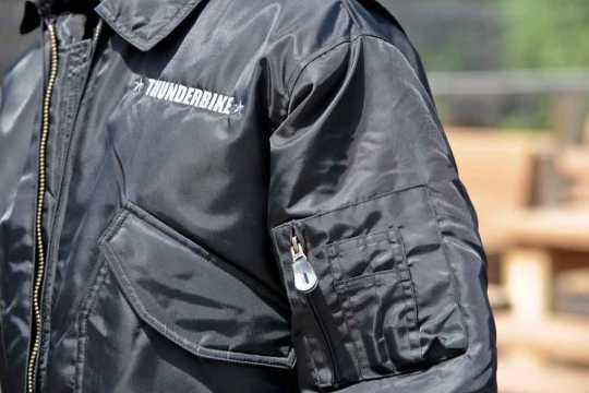Thunderbike Clothing Thunderbike Bomber Jacket, black  - 19-60-020V