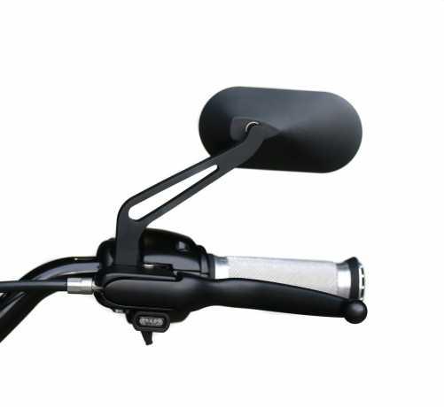 Thunderbike Spiegel Oval schwarz  - 23-99-1055