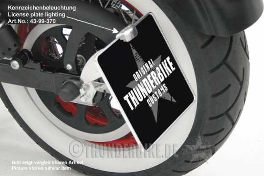 Thunderbike License Plate Holder aluminium 18x20cm | polished - 28-99-410