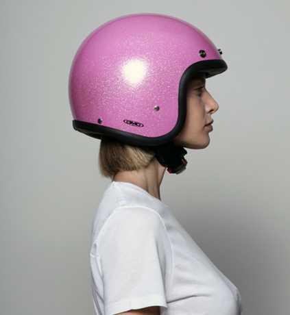DMD DMD Vintage Helmet Glitter Pink  - 53-9085V