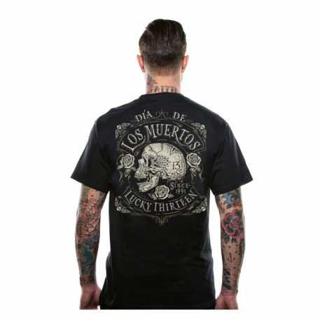 Lucky 13 Lucky 13 Dead Skull T-Shirt Black  - 566441V
