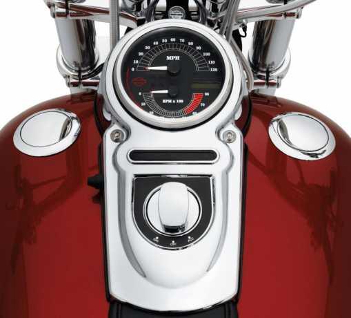 Harley-Davidson Bündiger Tankdeckel & Tankanzeige chrom  - 62910-06C