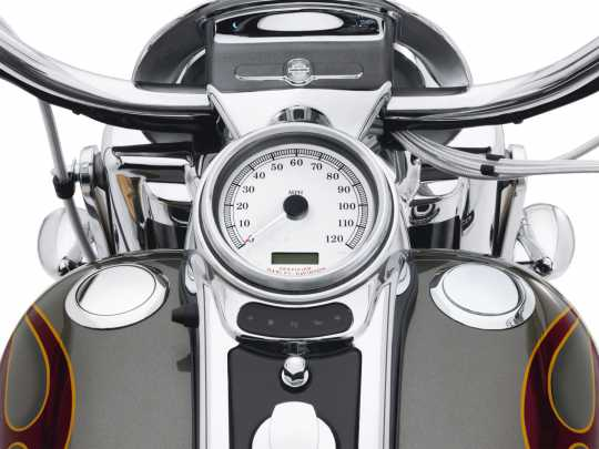Harley-Davidson Flush Mount Fuel Cap & Gauge Kit Chrome  - 62910-09C