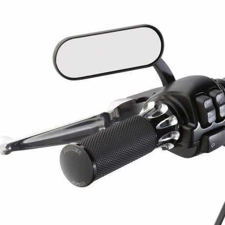 Arlen Ness Arlen Ness Mirror Mini Oval, black right - 64-8347