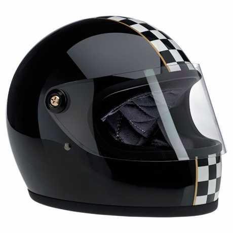 Biltwell Biltwell Gringo S Helm LE Checker schwarz glänzend DOT  - 89-2384V