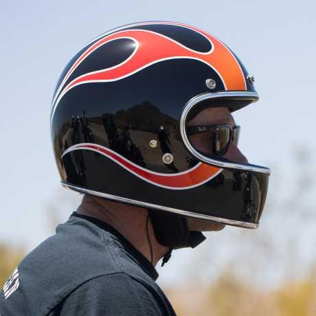 Biltwell Biltwell Gringo Helm ECE Dice Flames  - 569580V