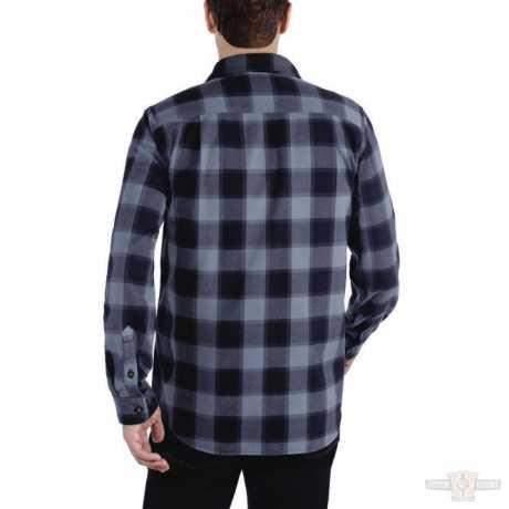 Carhartt Carhartt Hubbard Flannel Shirt Steel Blue  - 91-5197V