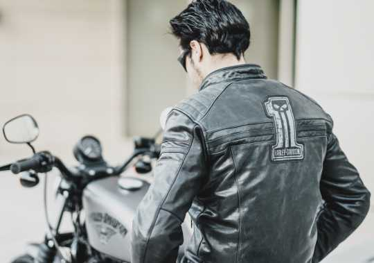 H-D Motorclothes Harley-Davidson #1 Skull Leather Jacket EC  - 98128-17EM