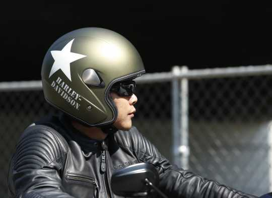 H-D Motorclothes Harley-Davidson Helm Military Retro 3/4, Olive Gold Denim  - 98241-16EM