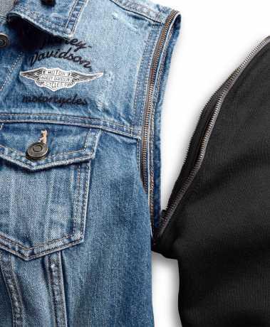 H-D Motorclothes Harley-Davidson Women's Zip-Off Sleeve Denim Jacket L - 98402-20VW/000L