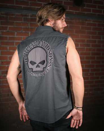 H-D Motorclothes Harley-Davidson Blowout Shirt Skull, grau  - 99029-17VM