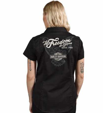 H-D Motorclothes Harley-Davidson Damen Zip Shirt Freedom schwarz L - 99037-20VW/000L