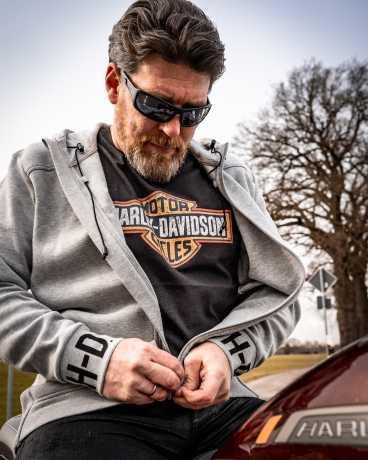 H-D Motorclothes Harley-Davidson T-Shirt Crackle Bar & Shield steel grey  - 99201-19VM