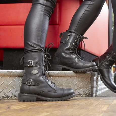 H-D Motorclothes Harley-Davidson Damen Stiefel Balsa, schwarz  - D83853