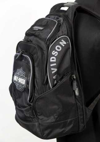 H-D Motorclothes Harley-Davidson B&S Delux Rucksack, schwarz/grau  - BP1900S-GRAYBLK