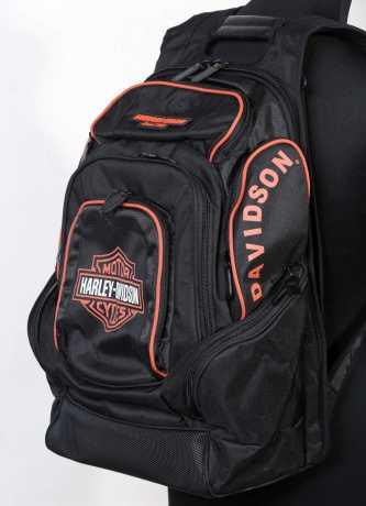 harley davidson b s delux backpack black orange at. Black Bedroom Furniture Sets. Home Design Ideas