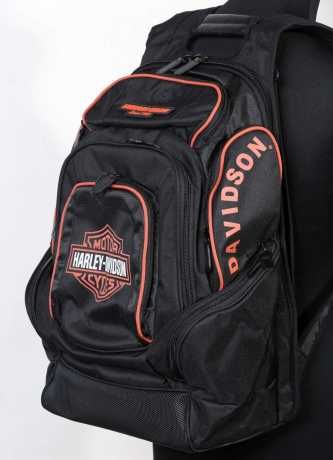 H-D Motorclothes Harley B&S Delux Rucksack schwarz/orange  - BP1900S-ORGBLK