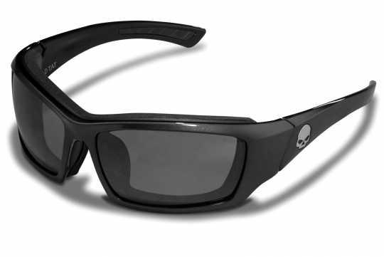H-D Motorclothes Harley-Davidson Wiley X Sonnenbrille Tattoo Skull , silber verspiegelt  - HATAT02