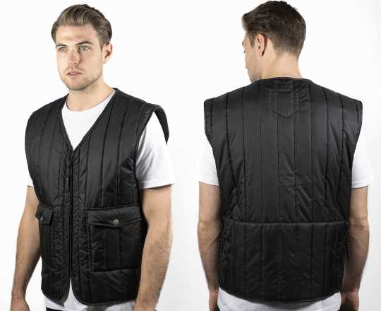 John Doe John Doe Classic Biker Vest, black S - JDW-3001-S