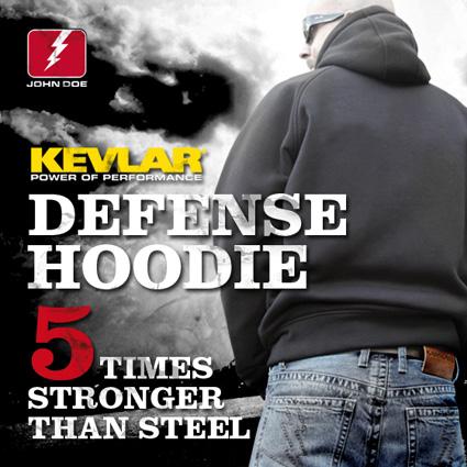 John Doe John Doe Kevlar Hoody, black  - JHK-7001