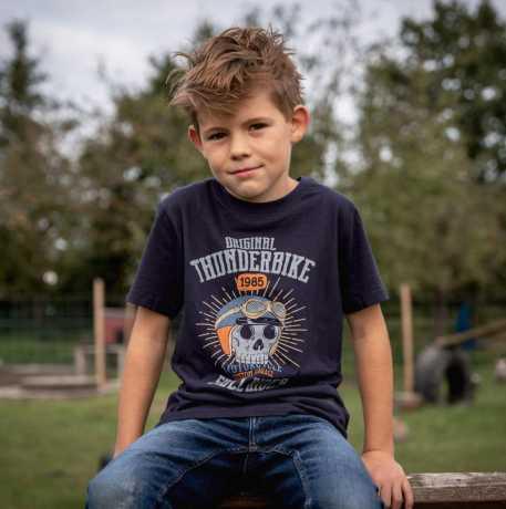 Thunderbike Clothing Thunderbike Kinder T-Shirt Skull Rider blau  - 19-01-1359V