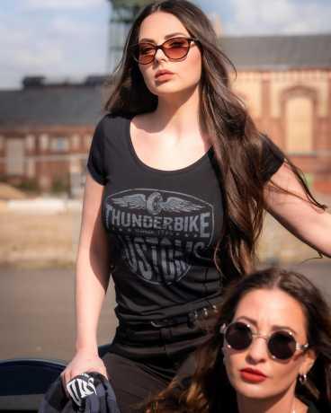 Thunderbike Clothing Thunderbike Damen T-Shirt New Custom, schwarz  - 19-11-1011V