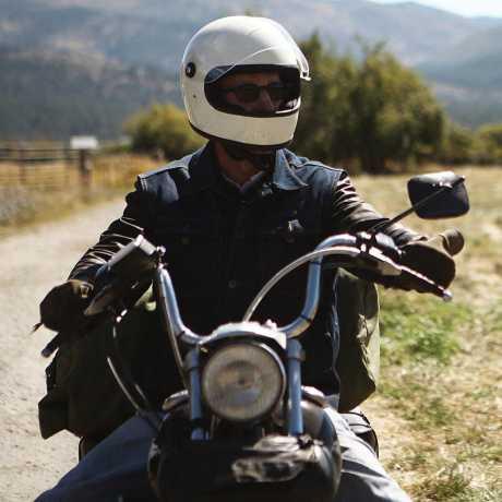 Biltwell Biltwell Gringo S Helm ECE Vintage weiß  - 569616V
