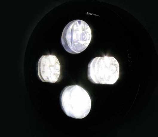 "Highsider Highsider Atlanta LED Hauptscheinwerfer 5 3/4"" chrom  - 60-7045"