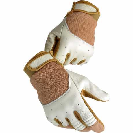 Biltwell Biltwell Bantam Gloves, white / tan  - 956955V