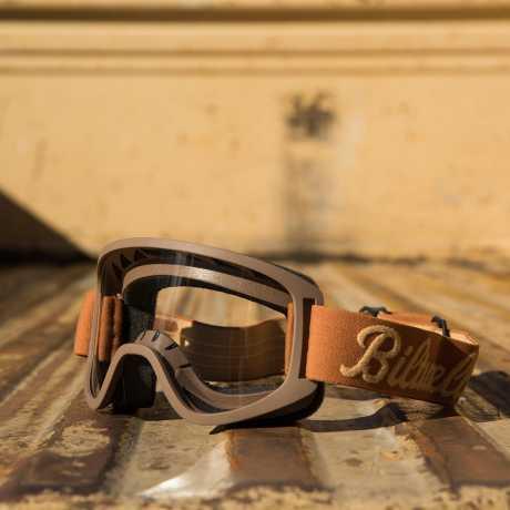 Biltwell Biltwell Moto 2.0 Goggles, Script chocolat / sand  - 956177