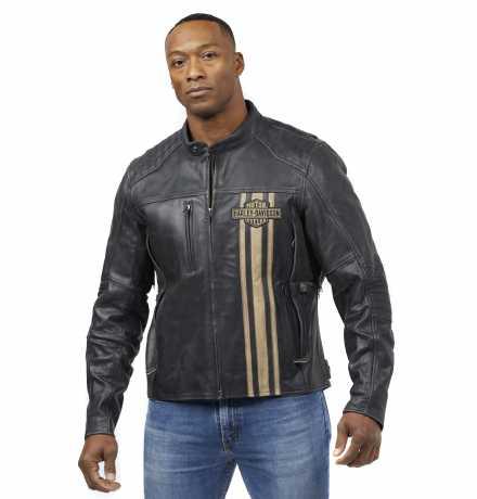 H-D Motorclothes Harley-Davidson Leather Jacket Triple Vent Passing Link II  - 98005-21EM