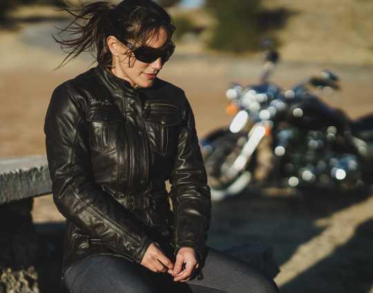 H-D Motorclothes Harley-Davidson Damen 3/4 Lederjacke Messenger EC  - 98129-17EW