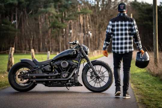 H-D Motorclothes Harley-Davidson Biker Hemdjacke Arterial Karo schwarz/weiß  - 98147-20EM