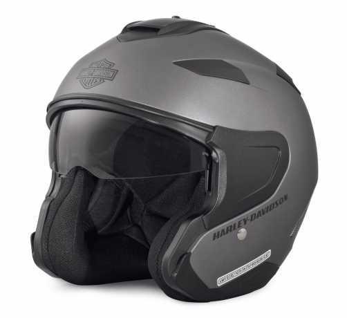 H-D Motorclothes Harley-Davidson Maywood 3/4 Helm, matt silber  - 98346-17EX