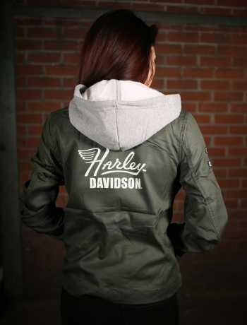 H-D Motorclothes Harley-Davidson women's Hooded Bomber Jacket  - 98597-19VW