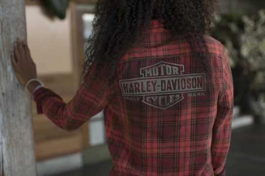 H-D Motorclothes Harley-Davidson Women's Plaid Shirt Laser Cut S - 99123-19VW/000S
