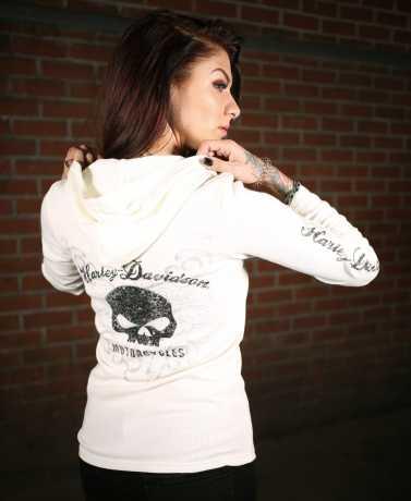 H-D Motorclothes Harley-Davidson Scroll Skull Hooded Henley  - 99131-17VW