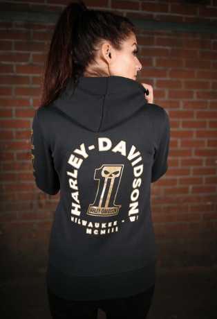 H-D Motorclothes Harley-Davidson Women´s Zip Hoodie #1 Skull black  - 99241-19VW