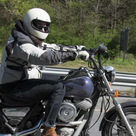 Biltwell Biltwell Gringo Helm DOT Vintage weiß / glänzend  - 61-9934V