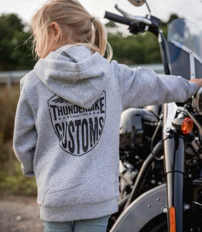 Thunderbike Clothing Thunderbike Kids Hoodie New Custom Grau 116 - 19-00-1013/116