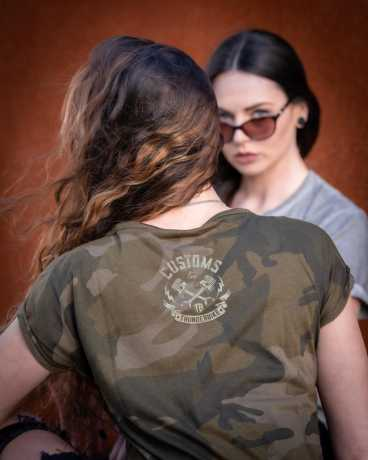 Thunderbike Clothing Thunderbike Women's T-Shirt Speed Skull Olive M - 19-11-1116/000M