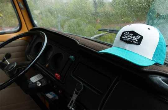 Biltwell Biltwell Parts Snapback Trucker Cap Teal/weiß/schwarz  - 597948