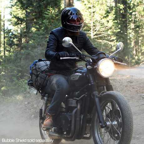 Biltwell Biltwell Gringo Helm DOT schwarz glänzend  - 61-9922V