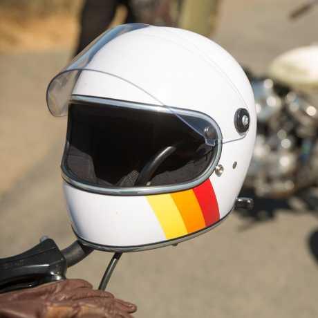 Biltwell Biltwell Gringo S Helm White Tri-Stripe DOT  - 89-9672V