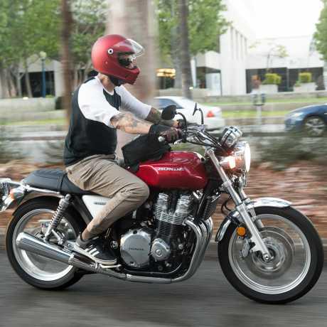 Biltwell Biltwell Lane Splitter Full Face Helmet, DOT/ECE, Flat Red  - 91-2044V