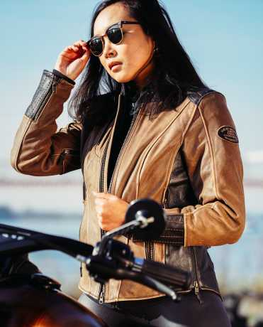 H-D Motorclothes Harley-Davidson Damen Lederjacke Gallun Triple Vent  - 98066-19EW