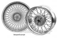 Rear spoke wheel 8.00x18 chrome