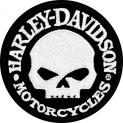 Harley-Davidson Aufnäher Hubcap Skull