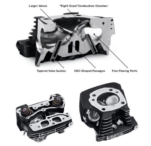 Screamin Eagle Pro Maximum Velocity Area (VMA) Cylinder Heads, CNC ported /  black